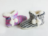 Children Indoor Knit Nice Snow Boot for Winter