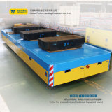 Large Table Power Driven Rail Flat Wagon Electric Transport Cart