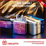 Multi-Color Electronic Fashion USB Charging Double Arc Electric Lighter