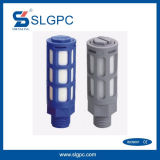 Plastic Pneumatic Muffler Silencer Blue Color PSU