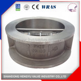 Industrial Stainless Steel Double Disc Check Valve with Spring