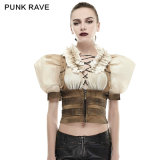 Y-669 2016 Newest Fashion Puff Sleeves Do Old Steampunk Skinny Blets Shirts