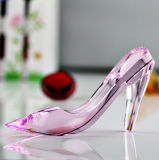 Unique Design Pink Cinderella Crystal Shoes for Wedding Favor Gifts