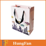 Fresh Printing Top Quality Shopping Paper Gift Bag with Golden Rope