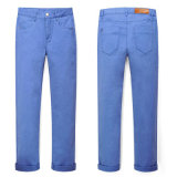Men′s Straight Fit Basic Five Pocket Jeans (HQ5016)