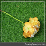 Long Stem Artificial Silk Roses Flower Wedding Bouquet Peony