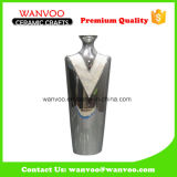 Hotel Use White Round Stone Vase China Manuacturer