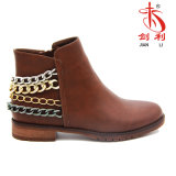 Classic Sexy Winter Boots Women′s Shoes with Chain Decoration (AB608)