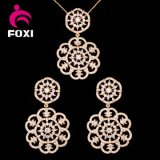 Fashion Set 18k Charming Gold Earring and Pendant Jewelry Set
