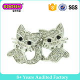 Lovely Little Cat Crystal Silver Plated Fashion Earring for Girls