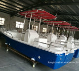 Liya 5.8m Panga Boat Fiberglass Fishing Boat with Outboard Engine