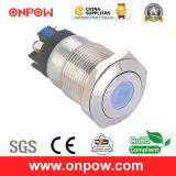 Onpow 19mm Push Button Switch (LAS1GQ-11D/L/G/12V/S, CE, CCC, RoHS)