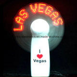 Promotional Mini LED Flashing Fan with Logo Printed (3509)