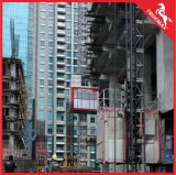 Galvanized Mast Section Double Cage Building Hoist