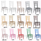 Best Price Colors PC Resin Chiavari Wedding Chair Rental