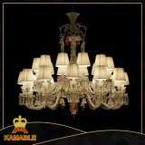 Modern Hotel Decorative Glass Chandelier Lamp (KM-Z0726B-24MX)