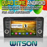 Witson S160 Car DVD GPS Player for Audi A3/S3/RS3 (2003-2012) with Rk3188 Quad Core HD 1024X600 Screen 16GB Flash 1080P WiFi 3G Front DVR DVB-T Mirror (W2-M049)