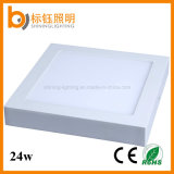 Home Office Usage Ce RoHS AC85-265V 24W Square Surface Mounted LED Ceiling Panel Light
