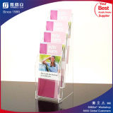 Good Quality 4 Tiers Acrylic Sign Brochure Stands Holders Rack