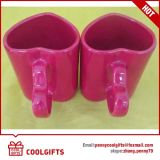 New Ceramic Coffee Mug Set with Heart Shape for Gifts