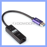 USB 3.0 Gigabit Ethernet RJ45 External Network Card LAN Adapter 10/100/1000Mbps