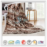 Customized 100% Polyester Leopard Printed Soft Coral Velvet Fleece Blanket