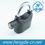 Waterproof Siren Straight Shackle Alarm Padlock with 3 Keys (YH1243)
