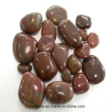 Red Polished Nanjing Pebble Stone for Decoration