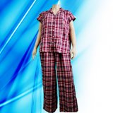 100% Cotton Lady′s Allover Print Pajamas