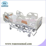Siderails with Built-in Buttons Battery ICU Hospital Bed