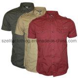 Cotton Polyester Button Men Shirts (ELTDSJ-43)