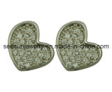 925 Silver Jewelry Heart Earring for Valentine′s Day