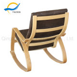 All Wooden Frame Bend Wood Rocking Relax Chair
