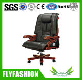 Luxury Executive Manager Genuine Leather Wooden Base Chair (OC-02A)