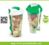 Plastic Salad Cup with Fork/ Plasticsalad Dressing Shaker