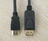 28AWG Gold Plated Displayport to HDMI Cable 10m