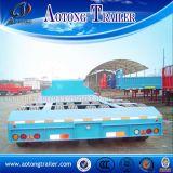 Tri Axles Beam Concave Lowbed Construction Machine Carrier Trailer