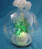 2013 Popular Glass Christmas Decoration with LED