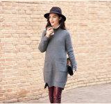 Women′s Cashmere Dress with Round Neck (13brdw105)