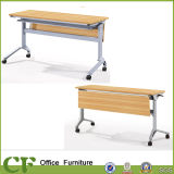 Multifunctional Folding Wooden Table with Metal Legs