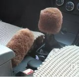 Plush Pure Sheepskin Car Handbrake Cover
