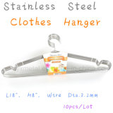 High Quality Metal Solid Stainless Steel Clothes Coat Wire Hangers