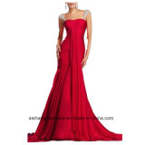 Women Chiffon Sheath Sleeveless Evening Party Prom Dress