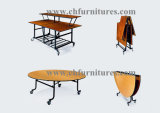 Folding Round Rental Wedding Banquet and Hotel Table for Event and Restaurant Dining Room (YC-T01)