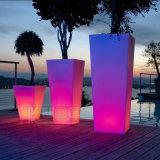 Glow Flower Vase Modern LED Garden Home Decoration