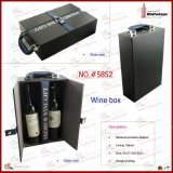 Gift 2 Bottle Wooden Packaging Leather Wine Box (5852)