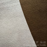 Gold Stamping Polyester Leather Suede Nap Fabric for Sofa