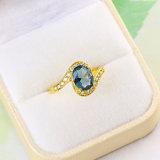 Fashion Jewelry CZ Gold Wedding Ring