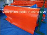 China Waterproof HDPE Coated Tarpaulin, HDPE Laminated Tarp, Orange Poly Tarp