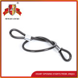 Jq8401 High Quality and Safety Bicycle Lock Motorcycle Lock Round Strand Steel Cable Lock